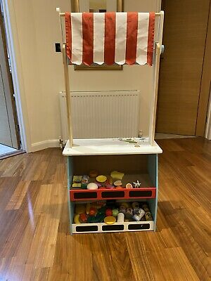 Reversible Play-Shop / Play Theatre With Blackboard, Excellent Condition *** • 25£