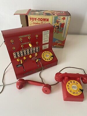 Vintage Toy Town Telephone Exchange Made By Codeg In Original Box • 45£