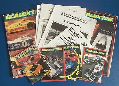 Six Vintage Scalextric Catalogues + Leaflets • 18.50£