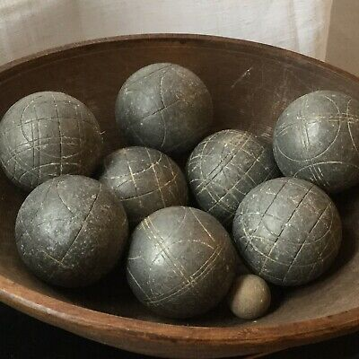 Set Of 8 Vintage French Boules / Pétanque With Jack • 35£