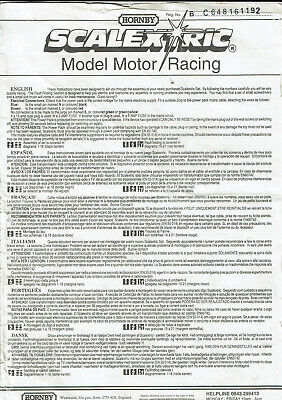 Scalextric - Vintage Instructions • 0.99£