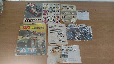Vintage Scalextric Catalogues, Leaflets & Instructions Bundle • 5£