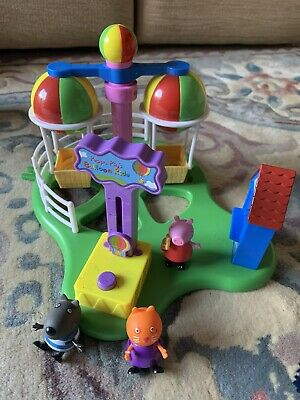 Peppa Pig Baloon Ride With 3 Figurines In Very Good Condition. • 9.99£