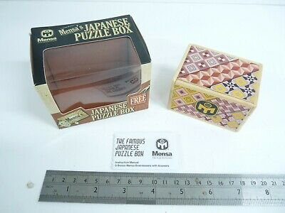 Mensa Japanese 12 Step Puzzle Box. BNiB. • 19.99£