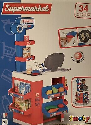 Smoby Tesco Supermarket With Electronic Cash Register With Lcd Screen Calculator • 39.99£