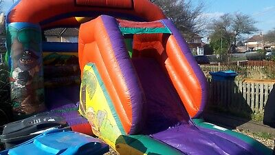 Commercial Bouncy Castle Combi With Slode And 2 Ball Pools And 4 Sumo Suits • 460£