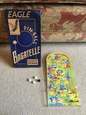 Eagle Pin-ball Bagatelle Riders Of The Range Vintage 1950's Game, Mettoy 7020 • 40£