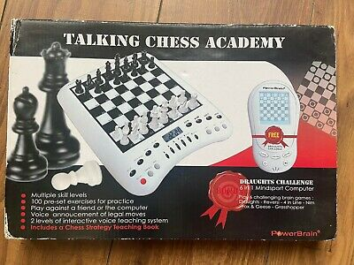Talking Chess Academy - Chess Board - With Draughts Challenge BNIB  • 19.99£