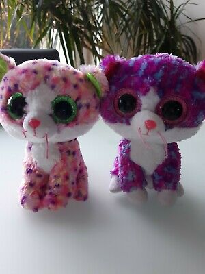 Ty Beanie Boo Cat Bundle Of 2 15cm. Charlotte And Sophie • 4.20£