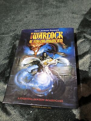 Games Workshop -THE WARLOCK OF FIRETOP MOUNTAIN Board Game Very Good Condition • 40£