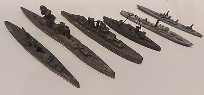Vintage Antique Lead Battleships Cruisers Warships Toy Collectable. • 12.99£
