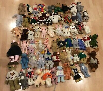 Huge Bundle Of Ty Attic Beanie Babies Some Rare • 150£