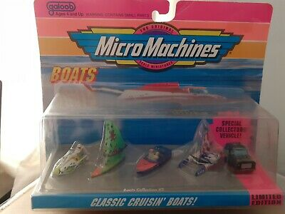 Micro Machines. Vintage Classic Cruisin' Boats, Limited Ed. 64000, Rare Sealed • 24.99£