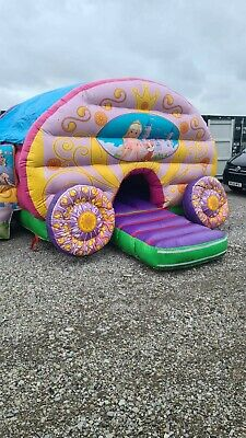 Princess Carriage With Slide Bouncy Castle  • 470£