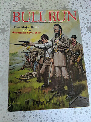 Bull Run, Avalon Hill Bookcase Game, 1983, Unpunched. Contents Near Mint Box VG+ • 10£