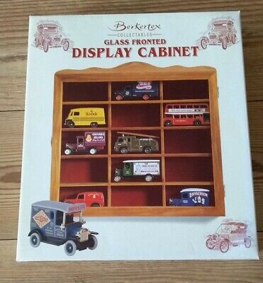 * New * Berkertex * Small * Cars * Wood * Glass * Front * Display * Cabinet • 27.99£