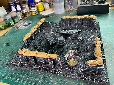 Warhammer 40k Scenery Imperial Sector Terrain Compound  • 18£