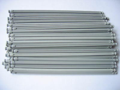 Group Of 100 Long Grey Rods 19cm Straight K'NEX Pieces. • 14.99£