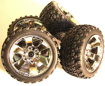 BS903-002 1/10 Scale Off Road Wheels / Tyres RC Nitro Truck Buggy X 4 • 23.99£