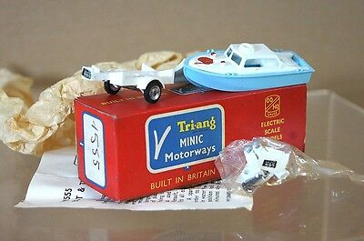 TRIANG HORNBY MINIC MOTORWAY M1555 SPEED BOAT & TRAILER NEW BOXED Pi • 84.50£