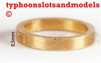 0132 SP050 Brass Spacer 0.5mm X 10 -New • 1.99£