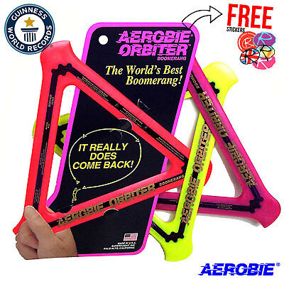 AEROBIE Orbiter Boomerang Ring, Frisbee, Flying Disc, ALL COLOURS!! • 11.95£
