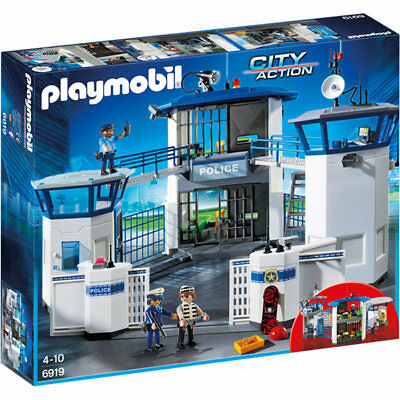PLAYMOBIL Police Headquarters With Prison - City 6919 • 69.95£