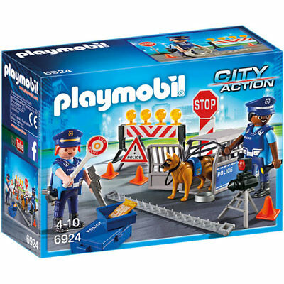 PLAYMOBIL Police Roadblock - City 6924 • 14.95£