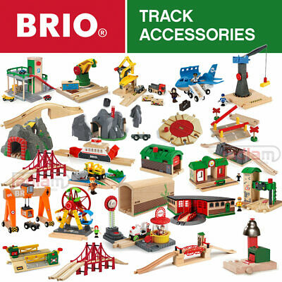 BRIO Wooden Railway Train Set Track Accessories Stations Turntables More Choose • 18.95£