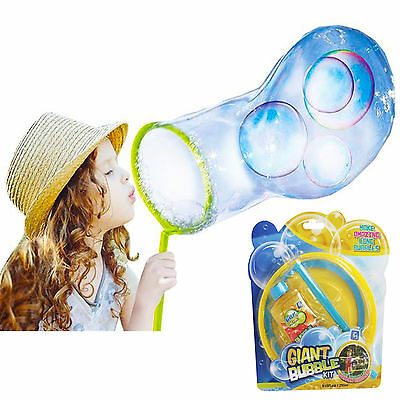 Fun Giant Bubbles Kit Amazing Magic Enormous Huge Bubble Gift Outdoor Garden Toy • 4.99£