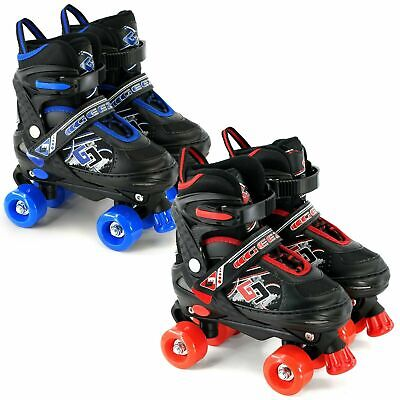 Childs Junior Adjustable Quad Roller Skates Boots Childrens Kids 4 Wheel Rollers • 25.99£