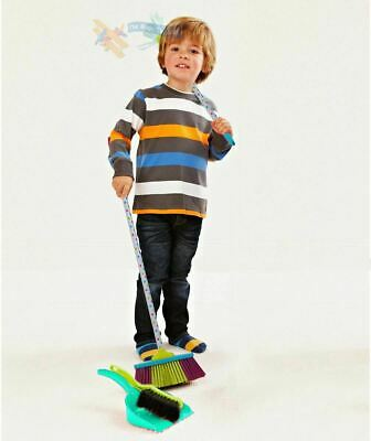 Kids Cleaning Sweeping Play Set - Mop Broom Brush Dustpan Childrens Pretend Toy • 12.99£