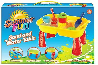 Sand And Water Table Garden Sandpit Play Set Toy Watering Can Spade Sand Bucket • 12.95£