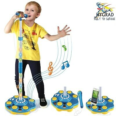 New Kids Karaoke Microphone With Adjustable Stand Light Sound XMAS Birthday Gift • 19.99£