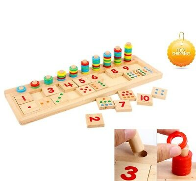 Autism Sensory Toys Educational Count And Match Numbers Set Special Needs Kids • 20.89£
