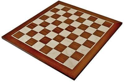 A High Quality Mahogany & Sycamore Chess Board 50mm Squares • 34.95£