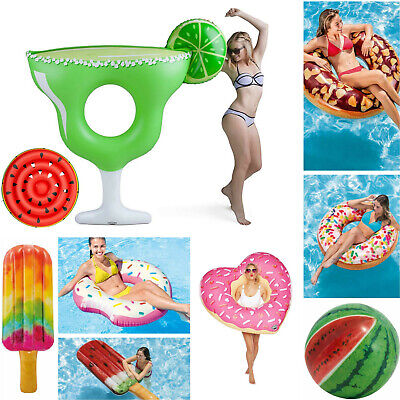 Intex Novelty Inflatable Loungers Ride-On Lilo Beach Pool Mat Float Swim Ring • 5.99£