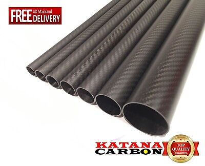 Matt 1 X 3k Carbon Fiber Tube OD 32mm X ID 30mm X 1000mm (1 M) (Roll Wrapped) • 29.50£