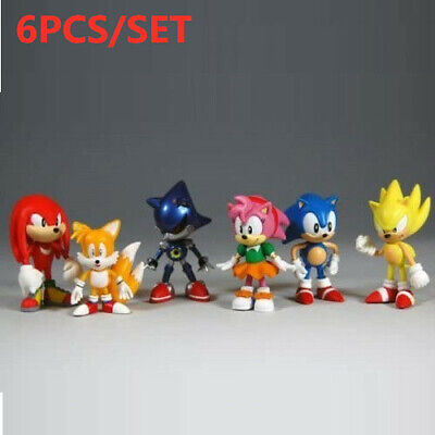 Sonic The Hedgehog Knuckles Character Display Figures 6 Pcs Toy • 9.09£