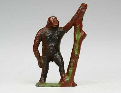 CRESCENT METAL ZOO SERIES ANIMALS - GORILLA With Tree Trunk - Fine Example...!!  • 5.99£