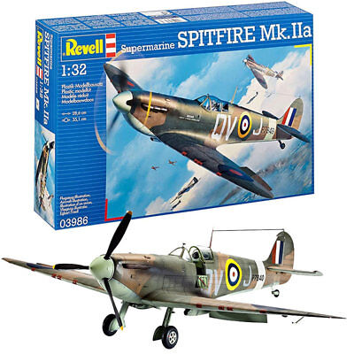 REVELL Supermarine Spitfire Mk IIa 1:32 Aircraft Plastic Model Kit 03986 • 20.95£