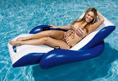 Intex Inflatable Floating Recliner Lounge Beach Pool Lounger Lilo Float Chair • 43.99£