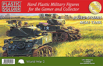 Plastic Soldier 1/72 Allied Stuart M5A1 Tank # WW2V20014 • 19.88£
