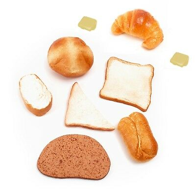Very Realistic Life Size Pretend Play Food 9pc BREAD & BUTTER Set Role Play Toy • 18.50£