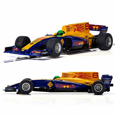 SCALEXTRIC Slot Car C3960  F1 Car - Blue Wings • 24.95£