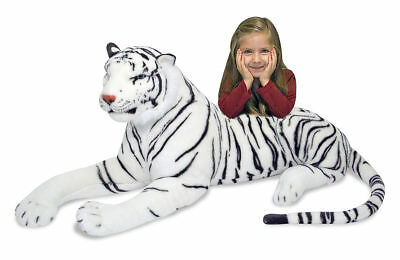 Large Giant Wild White Tiger Soft Plush Stuffed Animal Cuddly Toy Teddy • 36.99£