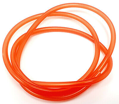Transparent Red Silicone RC Nitro Glow Fuel Line Tube Pipe 1 Meter 2.3mm X 5.5mm • 2.60£