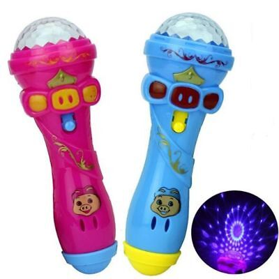 UK Kids Microphone Music Singing Toys With Colorful Lighting Funny Mic Cute Gift • 2.73£