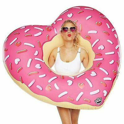 BigMouth Giant Inflatable Heart Ring Donut Pool Float Beach Swimming Lounger • 6.99£