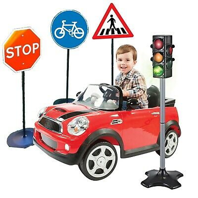Road Safety Signs Or Traffic Signal Lights Kids Educational Pretend Play Toy • 24.99£